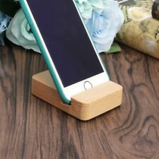 Portable Desk Cell Phone Wood Stand Holder Dock For Smartphone iPhone iPad Mini