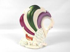 Vintage Ceramic Multi-Colored Swan Vase Planter Hand Painted