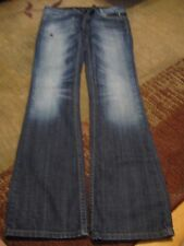 BEBOCK FOR EXPRESS JEANS, WOMEN'S Blue Cotton Boot Cut Dark Jeans Size 2