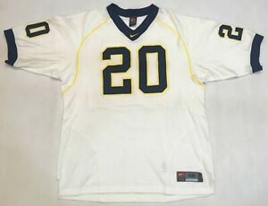 Nike Authentic NCAA Michigan Wolverines #20 Football Jersey 48 / XL White Sewn