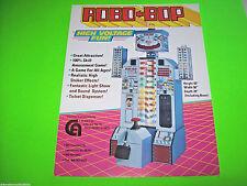 Coastal Amusements ROBO BOP Original NOS Promo Sales Flyer Robot Advertising