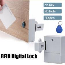 Battery RFID Cabinet / drawer Lock, 1 RFID card and 2 Key fobs - RFID-2B-G