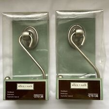 Allen & Roth Curtain Holdback Brushed Nickel Lot of 2 New #275136