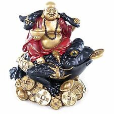 Laughing Chinese Buddha Wealth Toad Jin Chan Chu Money Luck Prosperity Feng Shui