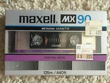 One New Sealed Maxell MX Metaxial 90 Metal Cassette Tape Made in Japan