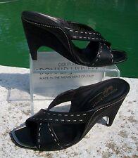 Donald Pliner Couture Leather Wedge Shoe New Cork Heel Sandal Slide 10 $375 NIB