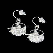 w Swarovski Crystal Pipe Band Bass Snare Drum Music Musical Jewelry Earrings New