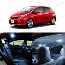 8 x Xenon White LED Interior Lights Package Kit For Toyota Yaris 2012 - 2016