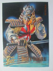 1996 X-MEN FLEER ULTRA: WOLVERINE - BASE CARD # 30 SILVER SAMURAI
