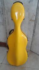 high quality yellow  carbon fiber  cello case /wheells 4/4 SIZE,#6381