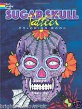 Sugar Skull Adult Colouring Book Tattoos Designs Mexican Folk Art Gothic Dead