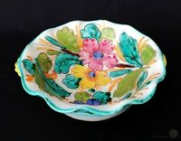 Vintage Italian Sgraffito Pottery Bowl Provincial Style | FREE Delivery UK*