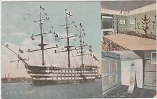 Royal Navy Postcard. HMS Victory. Nelson's Room George Hotel. Cockpit.  1906