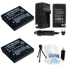 DMW-BCE10 Battery x2 + Charger for Panasonic Lumix DMC-FS3 FS5 FS20 FX30 FX33