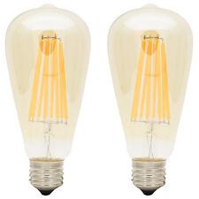 2x LED ST64 E27 8W Filament Glühbirne Edison Vintage Dekorativen Glühlampe 2300K
