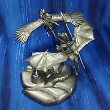 Knights of the Air Dragon Flight Rider Pegasus Pewter Figurine Rawcliffe *New*