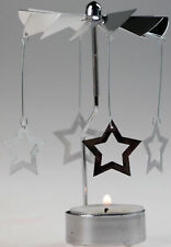Revolving Spinning Christmas Tea Light Candle Holder Ornament - Star