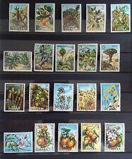 SELLOS DE ESPAÑA MNH LOTE 4 SERIES COMPLETAS FLORA HISPÁNICA 1972-73-74-75