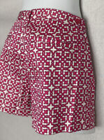 Women's LAUNDRY by Shelli Segal Shorts Size 6 Cotton/Spandec Belted Pockets NWOT