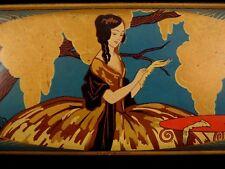 Ancienne boîte en tôle lithographiée ART DECO Cie Simplex Nancy 1920 Marquise
