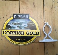PENPONT BREWERY - CORNISH GOLD ABV 3.7% GENUINE PUMP CLIP HAND PULL PRODUCT SIGN