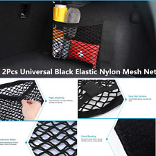 2x Universal Black Elastic Nylon Paste Storage Mesh Net For Car Trunk Seat Back