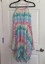 Childrens Place Girls XL Tie Dye Spaghetti Strapped Dress-EUC-Free Shipping