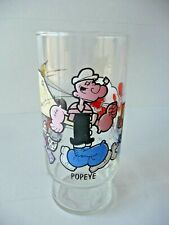 Vintage 1978 Popeye Brutus Olive Oyl Sweet Pea Series Collectors Glass