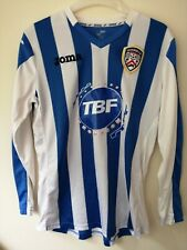 More details for coleraine fc football jersey long sleeve player issue #17 shirt joma small
