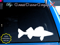 Walleye Fish Fishing -Vinyl Decal Sticker-Color Choice-HIGH QUALITY
