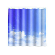 """Cloud Shower Curtain Kikkerland Bath Decor 72"""" x 72"""""""