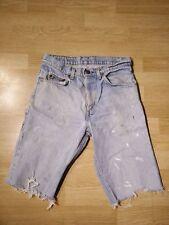 Vtg Levis Orange Tab Cut Off Jean Shorts  80s Mens Jorts Small E  29