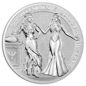 ALLEGORIES: ITALIA & GERMANIA – 2020 25 Mark 5oz silver BU