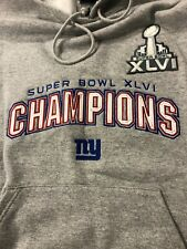 New York Giants Hooded Sweatshirt Hoodie MEN'S    REEBOK NFL GREY CHAMPIONSHIP
