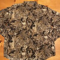 NORTH RIVER OUTFITTERS Men's 2XL Deer Camo Hunt  Long Sleeve Button Down Shirt