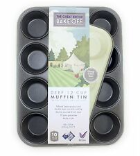 Great British Bake Off 12 Cup Baking Tray Bakeware Muffin Yorkshire Pudding NEW
