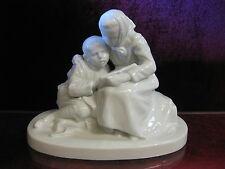 Siblings Pair Art Deco Figure White Brother Sister Child Schwarzburg Porcelain