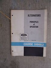 1966 Ford Alternator Manual Technician Handbook Operation Rotor Diodes Current R
