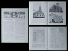 LA CONSTRUCTION MODERNE -n°10-1924- VIETNAM, EGLISE TON DAO, FERME FLAMANDE