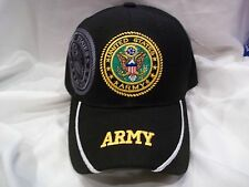 United States Army Licensed U.S. Military Ball Cap Hat in Black New Nwt  HH-3