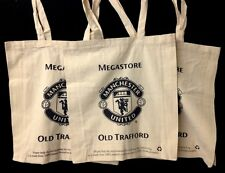 3 MANCHESTER UNITED MANU FABRIC SHOPPING TOTE BAGS OLD TRAFFORD MEGASTORE UK