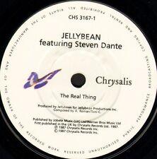 "JELLYBEAN/STEVEN DANTE the real thing/a cappella mix CHS 3167 chrysalis 7"" WS EX"