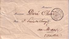 PARIS- E (30c) E - DU 11 OCTOBRE 1858 - LETTRE AVEC TEXTE ET ENTETEDES CHEMINS .