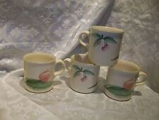 5 (IMPERFECT) PFALTZGRAFF GARDEN PARTY COFFEE MUGS OR TEACUPS