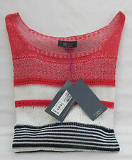 LADIES MARKS AND SPENCER PER UNA POPPY NAVY AND WHITE STRIPED JUMPER SIZE 18
