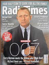 Radio Times Oct 2012 Daniel Craig Bond Muamba Carol Vorderman Wizards vs Aliens
