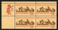#1726 13c Articles of Confederation, Zip Block [UR], Mint **ANY 4=FREE SHIPPING*