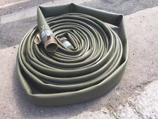 Lay Flat Green Hose 98ft Long Bore 6cm bronze ends EX-MOD New / Unused