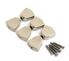 (6) Nickel Keystone Buttons for Grover Rotomatic Guitar Tuners TK-7722-001