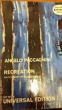 Paccagnini: Ricreazione: suite per pianoforte: musica Score